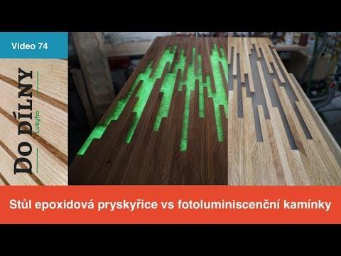 Fotoluminiscenční epoxid / Stůl z epoxidové pryskyřice foto / Epoxy glow table