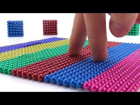 Игра с 1000 магнитных шариков Как сделать фигуры Шар Куб Сердце из цветных Магнитных шариков Неокуба