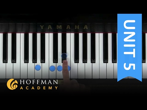 Improvisation in A Blues - Piano Lesson 97 - Hoffman Academy