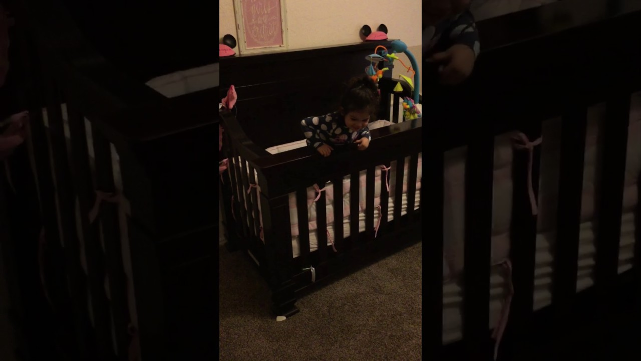 Spider Man Girl Jumps Out Of Crib Youtube