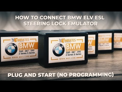 How to connect BMW ELV ESL Steering Lock Emulator (Plug and Start)