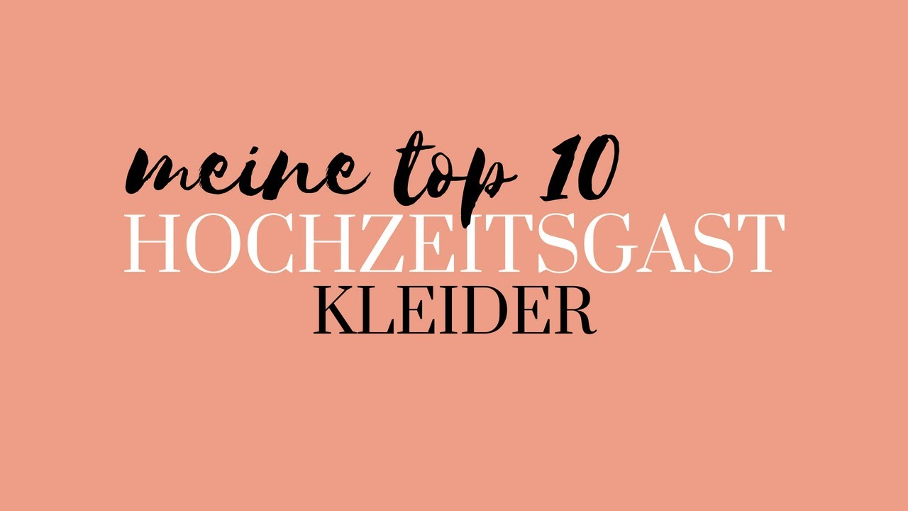 Hochzeitsgast Kleider TOP 10 Outfits | Modebloggerin Neele ...