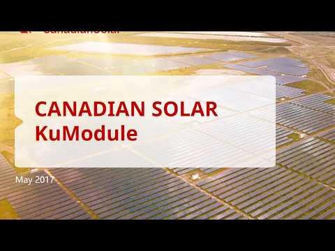 Canadian Solar KU Solar Panels KuModule halfcut  cells Vico Export Solar Energy