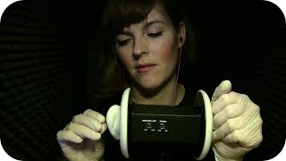 {BINAURAL ASMR} Playing w/ Latex Gloves & Your Ears  *No Talking*