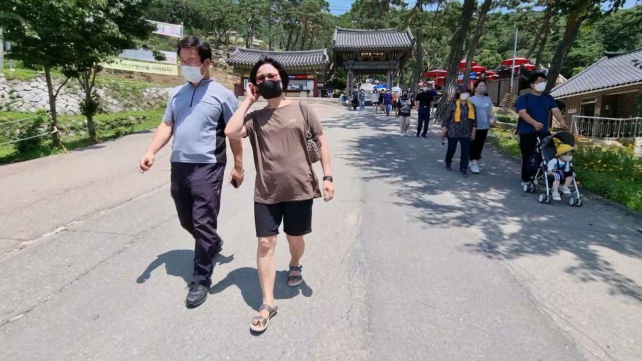 Walk along Bomunsa Buddhist temple Peaceful Incheon Korea l Incheon, 강화도 보문사
