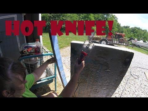 Using a Hot Knife to Cut Foam Insulation