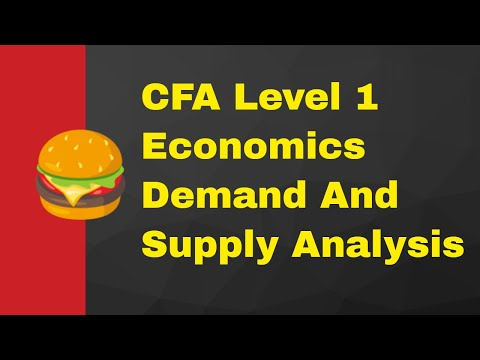 CFA Level 1: Economics - Demand and Supply Analysis: Introduction LOS 13