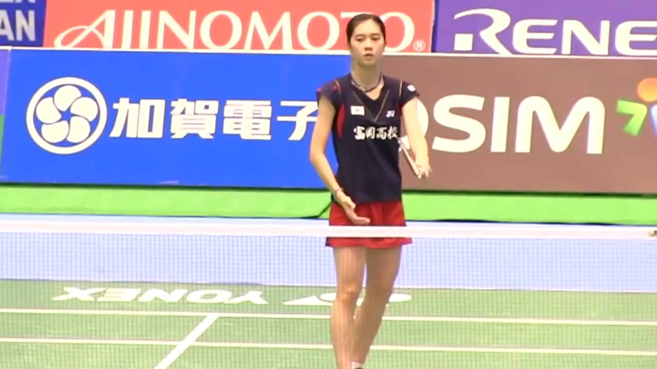 Beautiful badminton Player Aya Ohori 大堀 彩 vs Yui Hashimoto 橋本