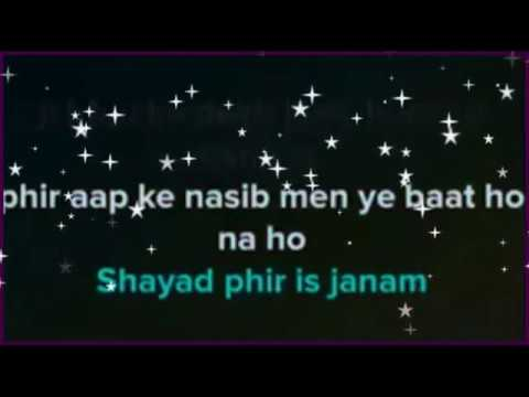 Lag ja gale karaoke with lyrics | modern music | clean instrumental | Lata mangeshkar | Sanam