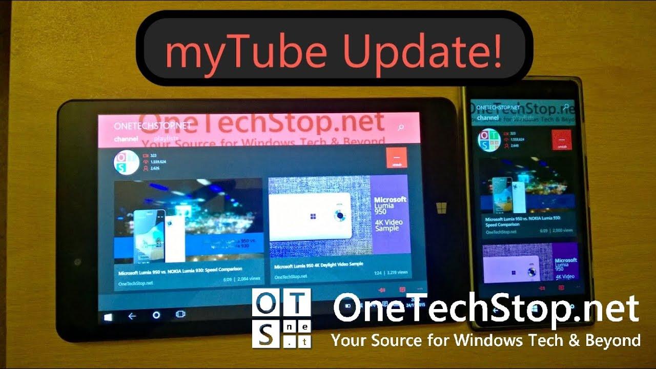 myTube for Windows Phone/Windows 10 Update, Version 2 5