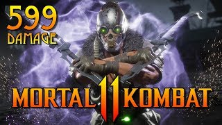 MK11: KABAL COMBO TUTORIAL UP TO 599 DAMAGE