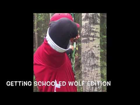 John Dudley gets schooled by a wolf
