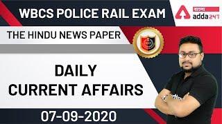 Morning Current Affairs | MCQ On Current Affairs From The Hindu Newspaper | WBCS Police Rail Exams