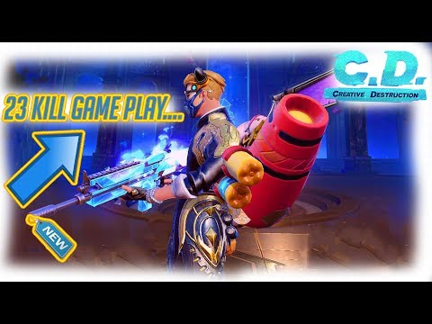 23 KILL SOLO WIN ! SUPER INTENSE ACTION! (Creative Destruction)