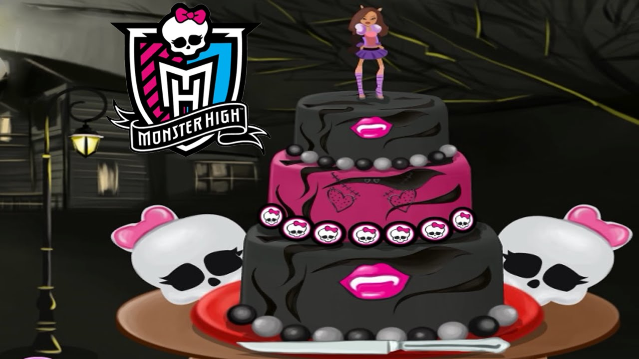 Monster High Cake for Halloween Decorate Game for Girls
