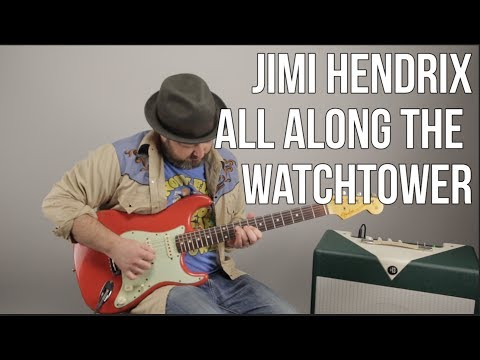 How to Play All Along The Watchtower  Jimi Hendrix on Guitar pt1