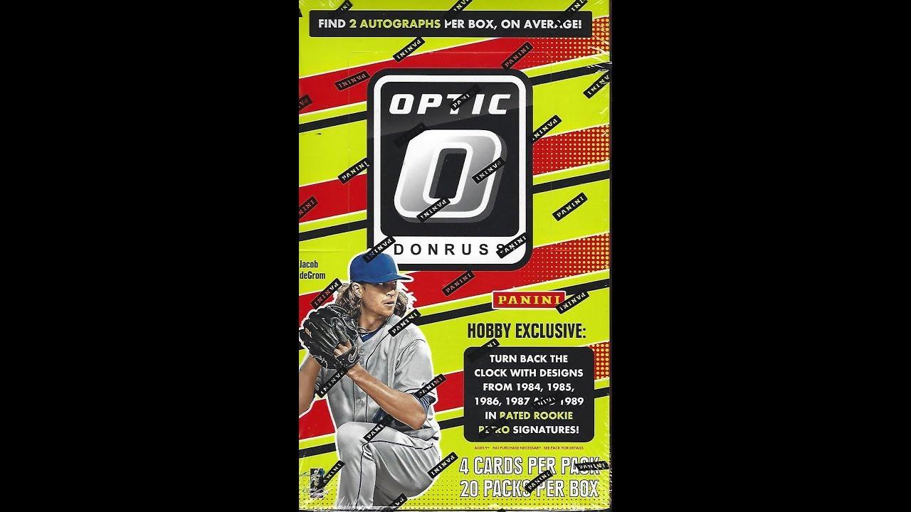 2016 Donruss Optic Baseball Hobby Box Break Hot Box 5 Autos