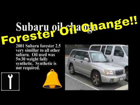 2001 subaru forester oil