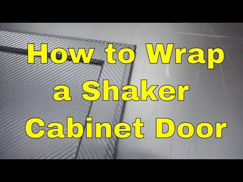 How to wrap cabinet door Rmwraps.com
