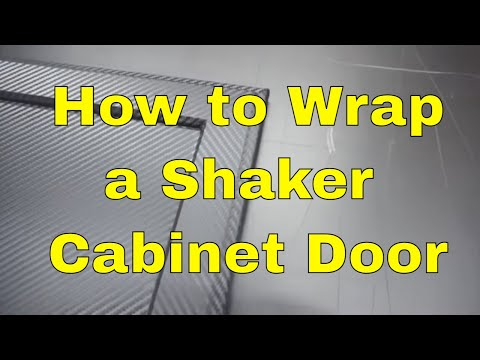 3M™ DI-NOC™ How to wrap Shaker Cabinet Door - Carbon fiber - Architectural Finishes Rmwraps.com