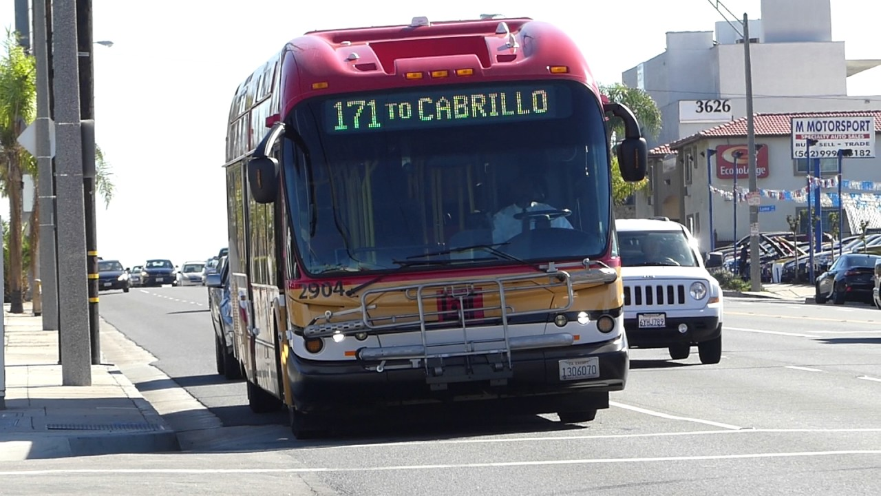 Ca Long Beach Transit 2009 New Flyer Ge40lfa Route 173