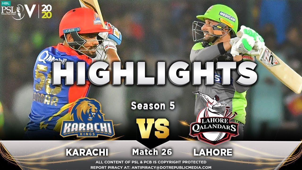 Lahore Qalandars vs Karachi Kings | Full Match Highlights | Match 26 | 12 March | HBL PSL 2020 | MA2