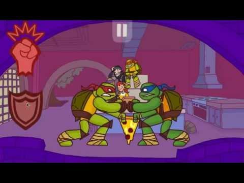 Игра Черепашки ниндзя Кейси Джонс против злых роботов
