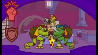 мультик игра черепашки мутанты ниндзя битва за пиццу прохождение и обзор игры