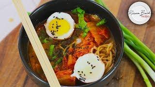 Kimchi Ramen Soup Recipe | No Gluten High Protein 35 gms