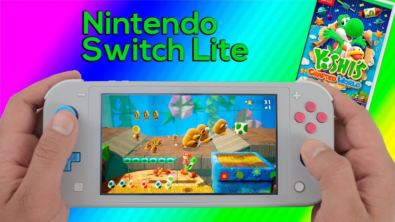 Yoshis Crafted World Nintendo Switch Lite Gameplay Youtube