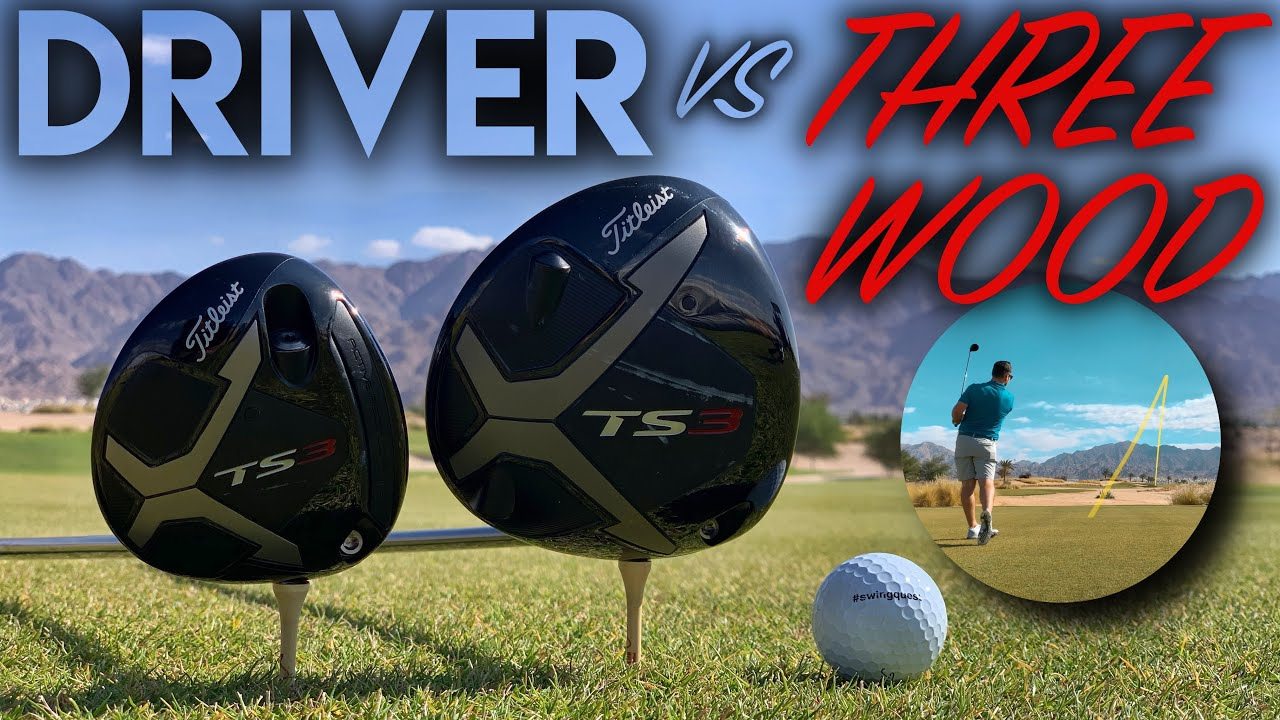 DRIVER vs THREE WOOD - Titleist TS3 Face Off! Course Vlog at Ayla Golf Club