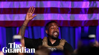 Kanye West makes cha๐tic presidential rally debut in South Carolina