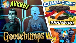 GOOSEBUMPS Movie / World's Largest Gummy Worm / OREO Sandwich / Baby Names & More FUNnel Vision Vlog