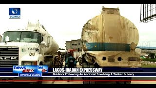 Tanker Accident Causes Gridlock On Lagos Ibadan Expressway