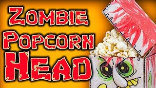 Funny Halloween DIY - Zombie Popcorn Head | Craft Ideas For Kids On Box Yourself