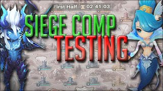 New Siege Comp Testing for the New Siege Season! : Summoners War