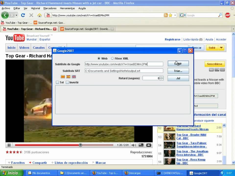 Google2SRT - Download YouTube subtitles and convert them to SRT