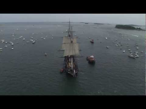 "USS Constitution Sets Sail in Boston Harbor - ""Old Ironsides"""