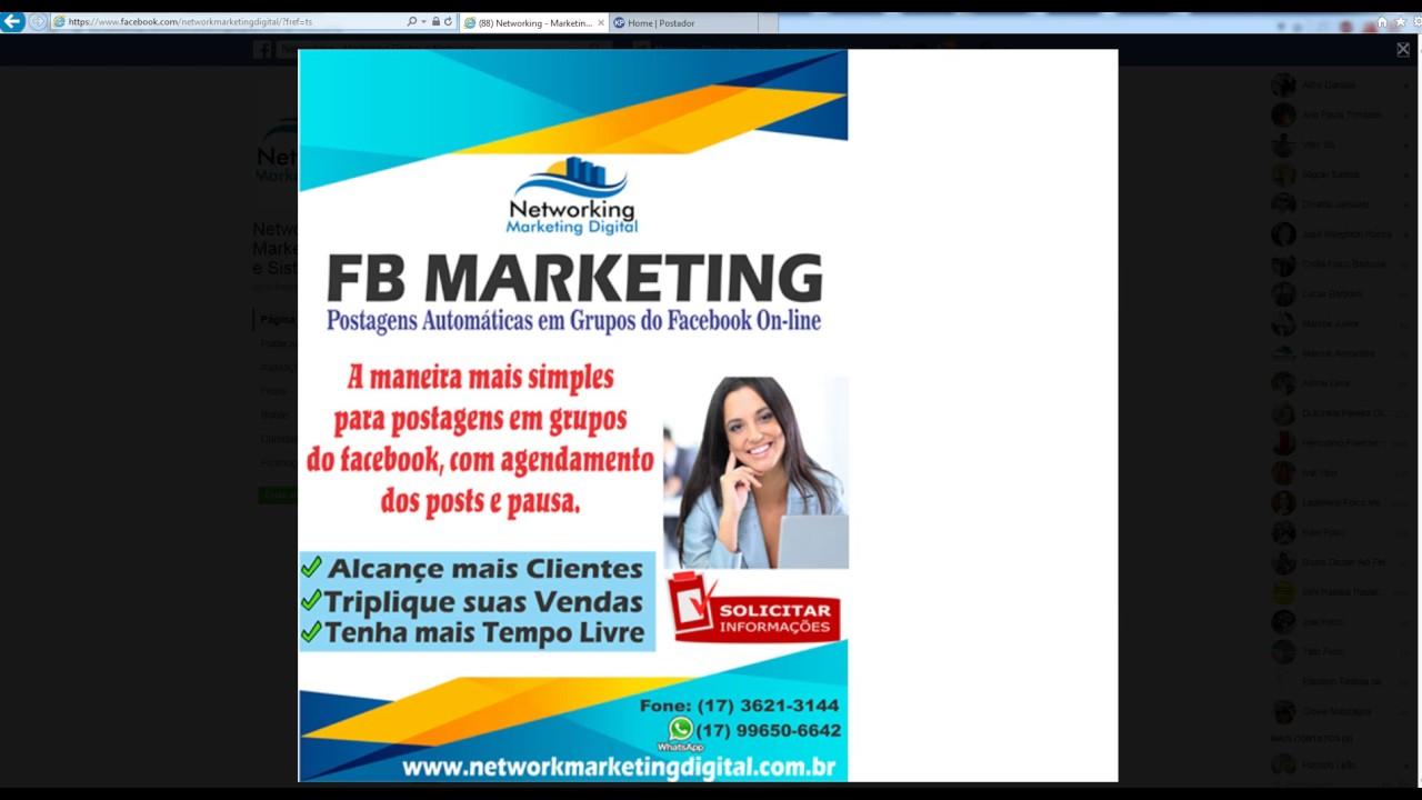 FB Marketing Super Postador Automático no Facebook