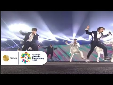 Super Junior - Sorry Sorry dan Mr. Simple | Closing Ceremony Asian Games 2018