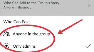Facebook Group || Admin Tools And Settings (Who Can Post) anyone in the group, Only Admin