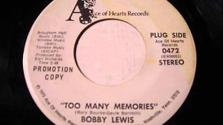 "Bobby Lewis ""Too Many Memories"""