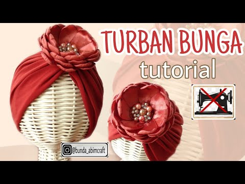 HOW TO MAKE A FLOWER TURBAN FOR A BABY OR CHILDREN, THE RESULTS ARE SO BEAUTIFUL ...... !!!