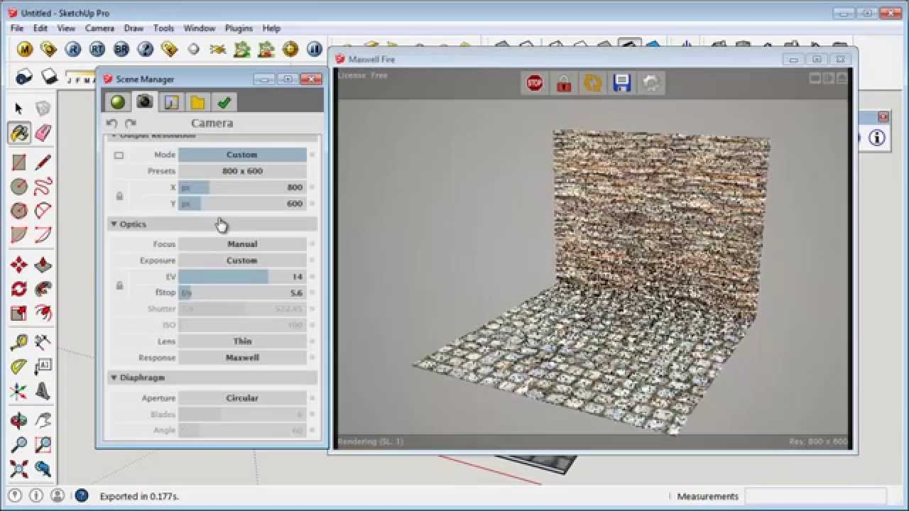 Sketchup free rendering plugin maxwell youtube for Rendering online