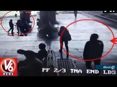 Girl Molested By Man At Turbhe Railway Station | Navi Mumbai | V6 News
