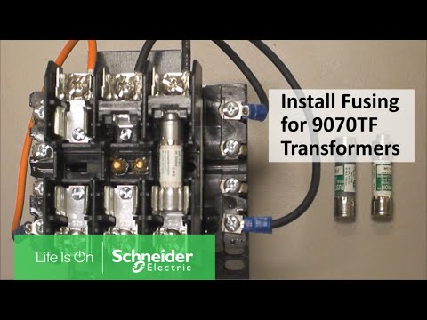 Installing Primary Secondary Fusing On 9070tf Control Transformers Schneider Electric Support Youtube