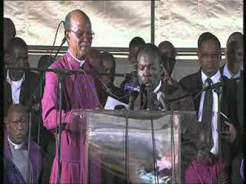The memorial service at Marikana