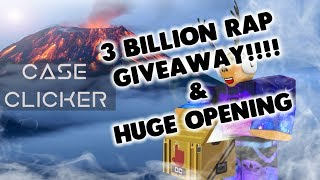 Case Clicker - 10 BILLION RAP GIVEAWAY!! @520 SUBS + HUGE OPENING - ROBLOX