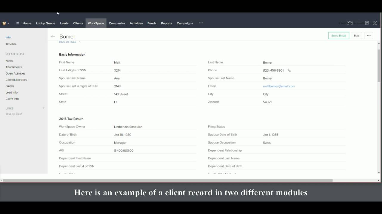 CRM Search for a Record - YouTube