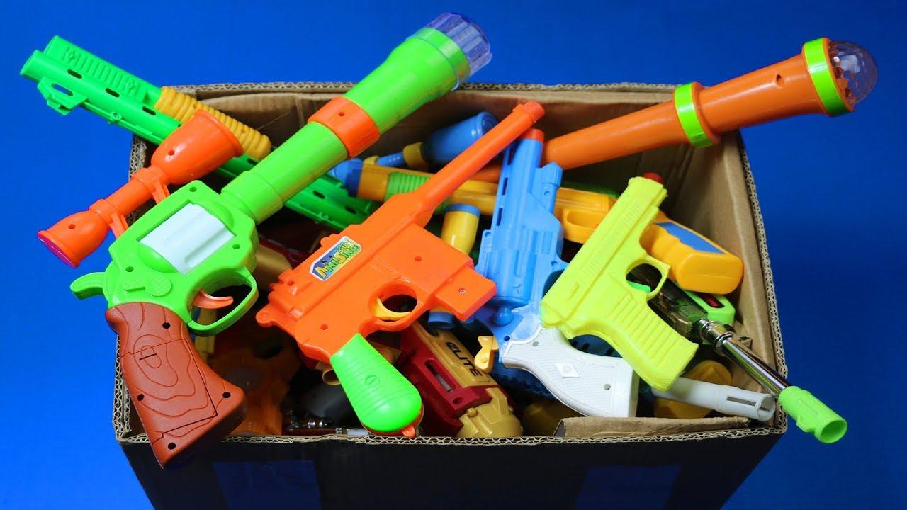 Download Box Full Of Toys! My Massive Gun Toys Arsenal - Real & Fake Nerf Guns Toys & Military equipments